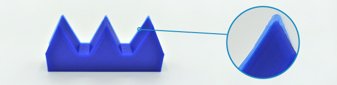 resolution of printed part in z