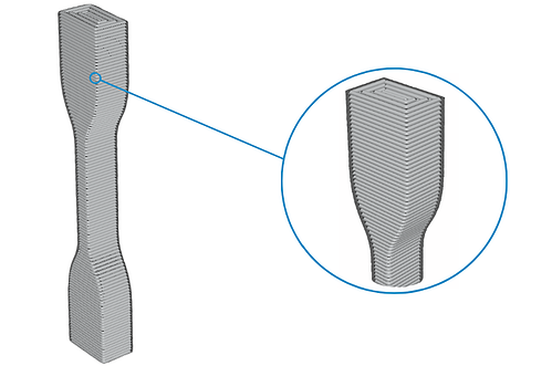 Z-axis oriented part helps with compression forces