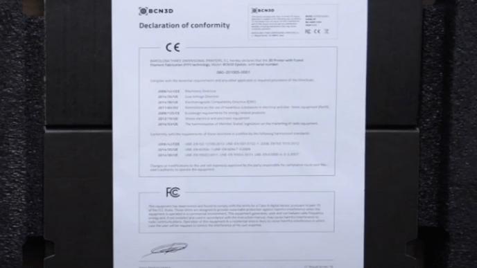 document of conformity