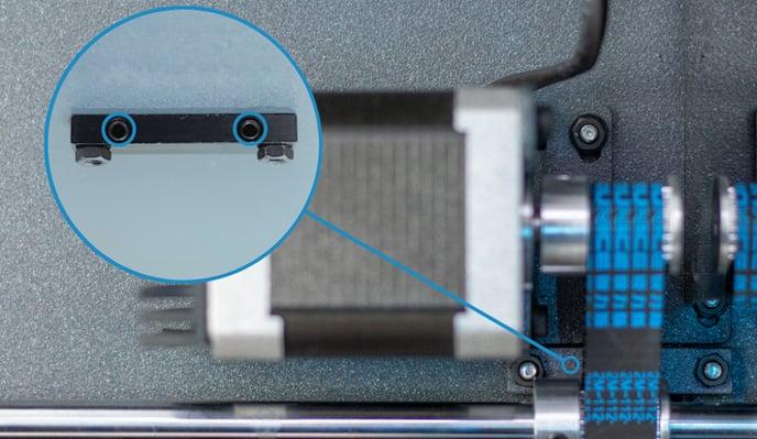 adjust screws of Y motor tensioner