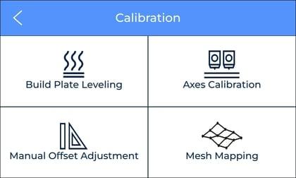 mesh mapping calibration menu