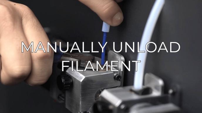 manually unload filament eng