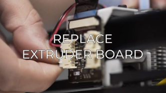 replace extruder board eng