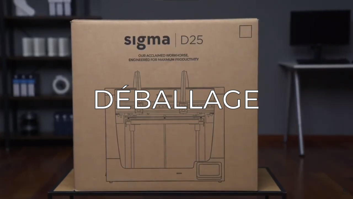 unboxing sigma D25 FR