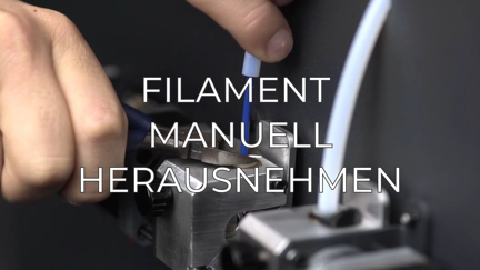 manually unload filament GR