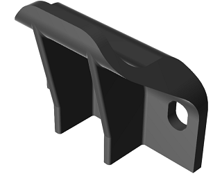 Curve flat cable holder