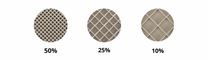 variaciones de densidad de soporte