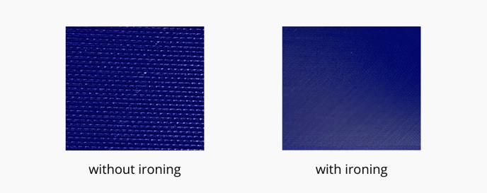 printing ironing parameter